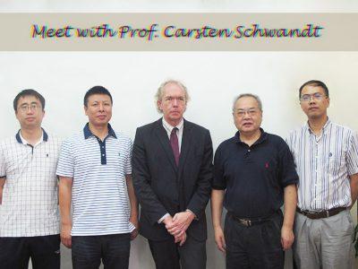 Prof. Carsten Schwandt Paid A Visit